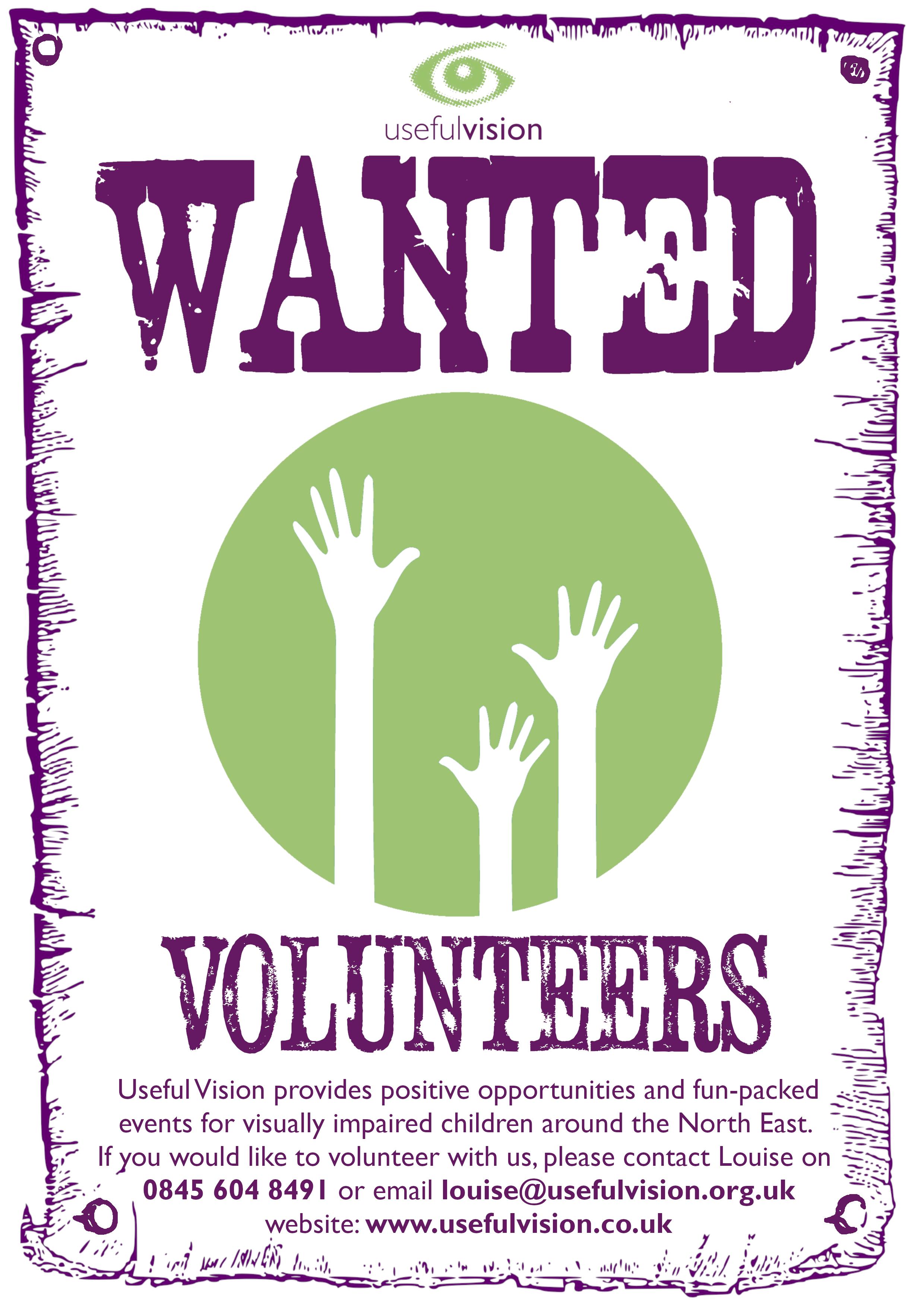 Volunteers Wanted Poster