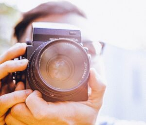 A person taking a photo